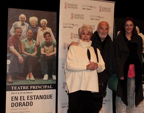 Herrera, Alterio y Luz Valdenebro durante la rueda de prensa de ' class=