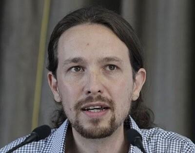 Iglesias en un acto de la formación Podemos. (Foto-AFP)