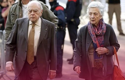 Jordi Pujol y su mujer Marta Ferrusola. (Foto-Agencias)