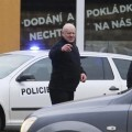La policía checa acordonó la zona e investigan todo lo ocurrido. (Foto-Agencias)