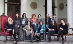 Las fotoperiodistas integrantes de la exposición 'Diverses històries de dones'.