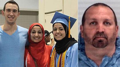 Las tres víctimas a la derecha y el agresor a la izquierda. (Foto-Agencias)