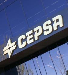 Logo de la empresa en su edifico de Madrid.
