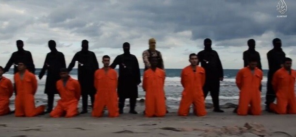 Los rehénes egipcios ejecutados por miembros del Estado Islámico.