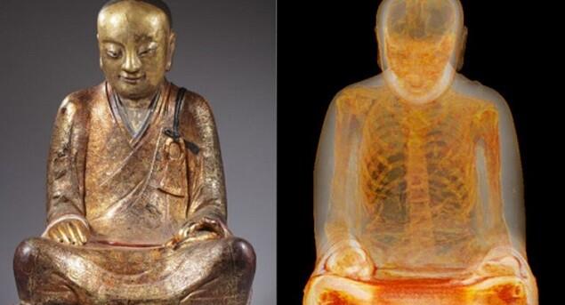 Los resultados fueron sorprendentes al ver la estructura interior de la estatua de Buda.