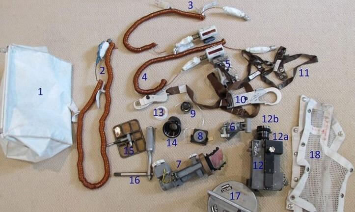 Objetos que Armstrong trajo de su visita a la Luna. (Foto-NASA).