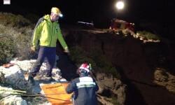 Peñiscola, Bomberos finalizan el rescate del cuerpo sin vida de un varón en torre Badum (1)
