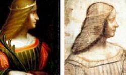 Pintura recuperada y boceto de la obra de Leonardo.