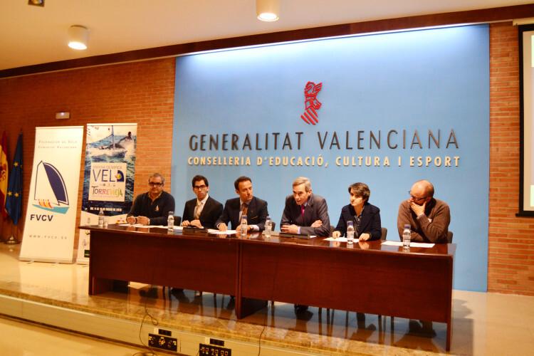 Acto de presentación del Open Internacional de Vela Comunidad Valenciana en la Conselleria de Cultura