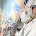 Proceso de restauración de los bocetos, llevado a cabo por el equipo de IVC+r CulturArts.