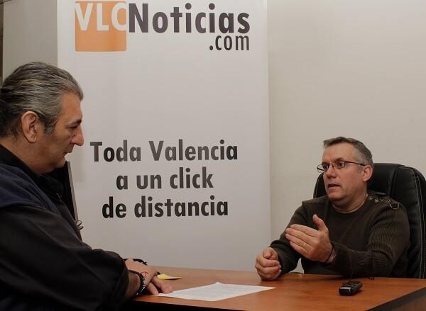 Ramón Guijarro en un momento de la entrevista.