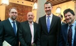 Rey Felipe VI entregó a la Diputación el Premio Nacional al Fomento de la Lectura.