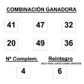SORTEO DE BONOLOTO DEL martes 17 febrero
