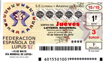 Lotería Nacional, Sorteo del jueves de Lotería Lacional 19 de febrero de 2015