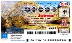 Sorteo del jueves de lotería nacional 12 de febrero de 2015