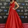 TONI ACOSTA vestida de ALICIA RUEDA y LODI en la ceremonia de los Premios Goya 2015