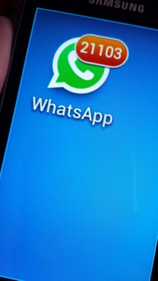 UPyD nú. de mensajes WhatsApp