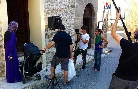 Un momento del rodaje de uno de los cortos que participaron en Cortometrando 2014.