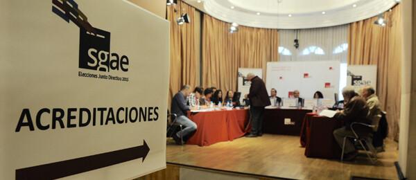 Un momento en las votaciones de la SGAE.