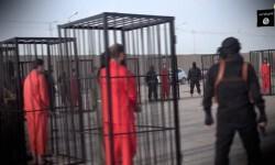 Un nuevo video del Estado Islámico que muestra cómo preparan a 21 kurdos que van a ser quemados vivos