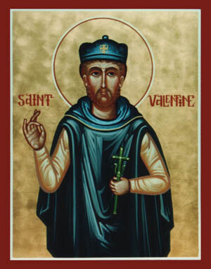 Una de las muchas representaciones de San Valentín.
