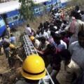 Una imagen del accidente ferroviario. (Foto-Agencias)