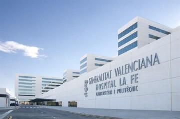Vista exterior del Hospital La Fe de Valencia