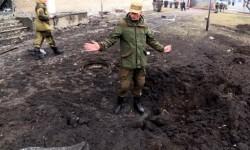Zona de la localidad de Donetsk bombardeada. (Foto-Agencias)