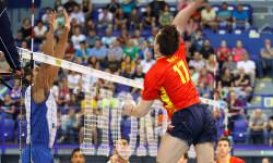 Francisco Ruiz attacks powerful with high jump against Puerto Rico