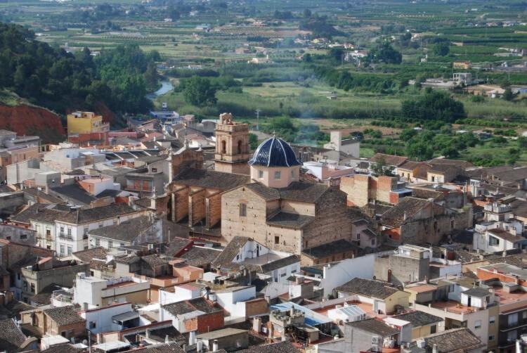 Vista panorámica de Pedralba. Foto de archivo