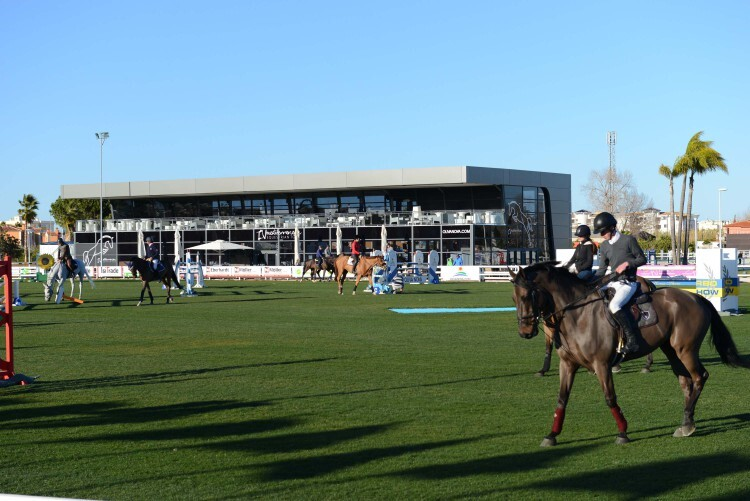 during various competition at CSI Mediterranean Equestrian Tour I at Oliva Nova Equestrian Center, Oliva - Spain