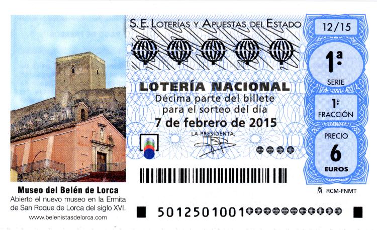 sorteo de lotería nacional 7 de febrero de 2015