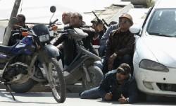 Agentes especiales de la policía de Túnez se apostaron frente al Museo.