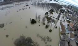 Alerta en Zaragoza por la crecida del río Ebro.