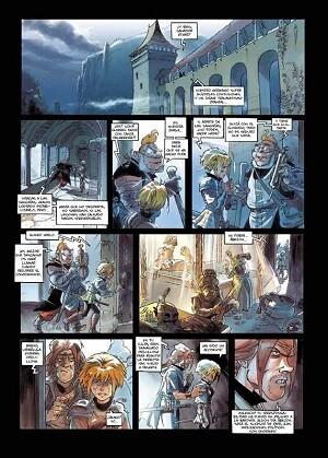 Algunas viñetas de 'Leyendas de Troy-Noche de azafrán'