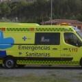 Ambulancia de Soporte Vital que trasladó a los heridos al hospital.