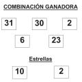 COMBINACIÓN GANADORA DEL SORTEO DE EUROMILLONES DE FECHA 10 DE MARZO DE 2015