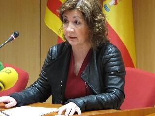 Carmen Llombart durante la presentación de la memoria de actividad de 2014.