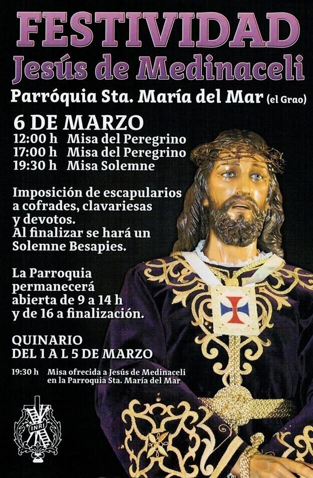 Cartel de festejos de Jesús de Medinaceli de Valencia.