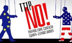 Cartel de rechazo a la integración del Ttipia.