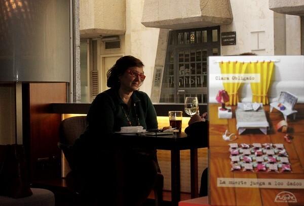 Clara Obligado en un momento de la entrevista.