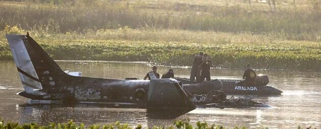 El avión siniestrado está siendo investigado por las autoridades. (Foto-AP)
