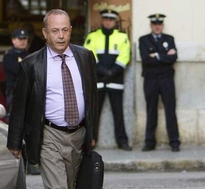El juez josé Castro a la salida del tribunal de Palma.