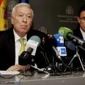 El ministro de Asuntos Exteriores, José Manuel García Margallo en su comparecencia ante la prensa.
