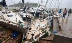 El puerto de recreo de Vanuat quedó completamente destruido. (Foto-AP-UNICEF Pacific, Humans of Vanuat)