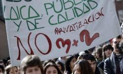 En enero los estudiantes y profesores ya mostraron su desacuerdo con el modelo '3+2'. (Foto-Agencias)