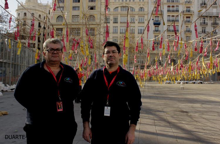 Fallas 2015; Mascletà a cargo de la pirotecnia Alpujareña de Ugijar  (2)