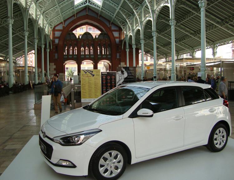El nuevo Hyundai i20 en el Mercado de Colón
