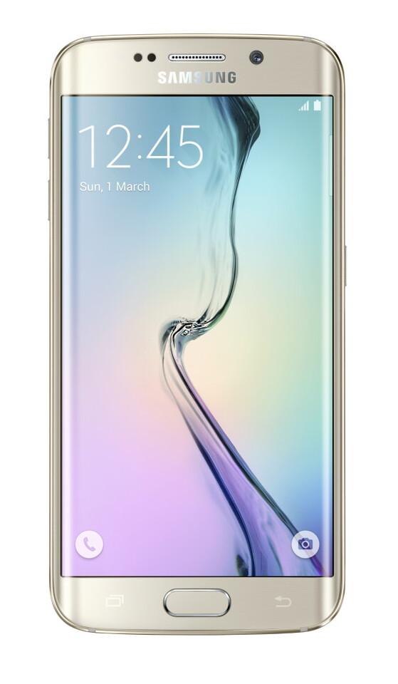 Galaxy S6 Edge_Front_Gold Platinum