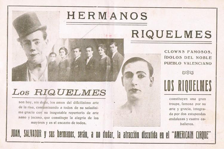 Hermanos Riquelme. Circo Americano, 1927. A.  P. R. S.